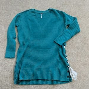 Free People Heart It Laces sweater - teal blue